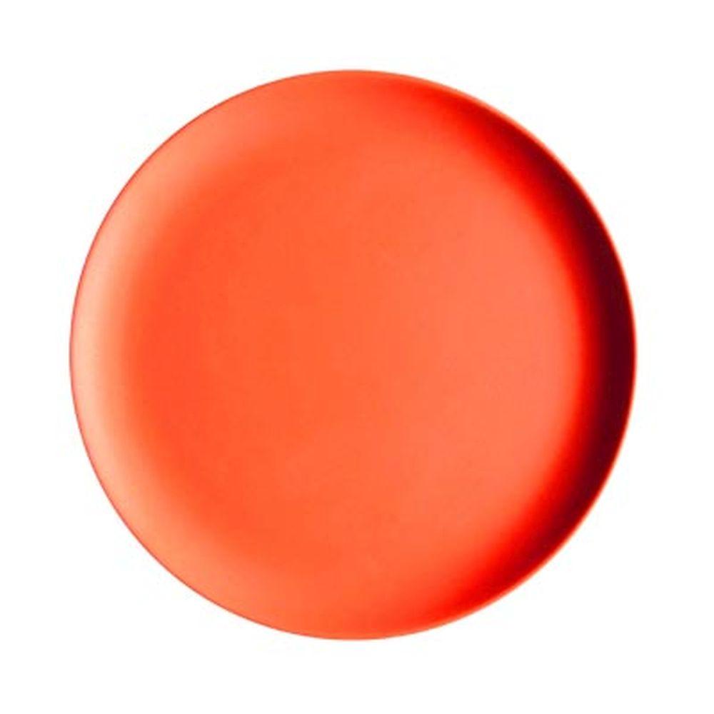 СЛАВЯНА Тарелка десертная бамбуковое волокно, 18см, красная, BF21233