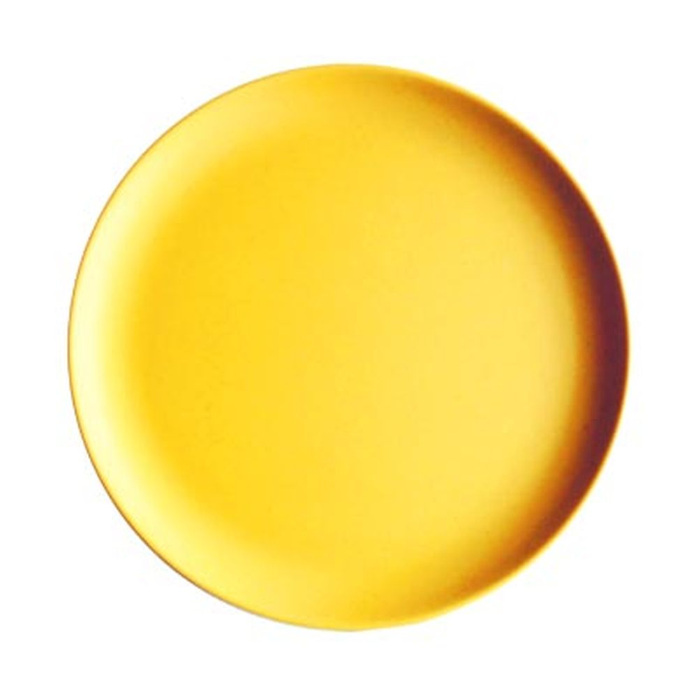 СЛАВЯНА Тарелка десертная бамбуковое волокно, 18см, желтая, BF21233
