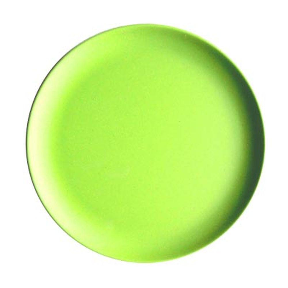 СЛАВЯНА Тарелка десертная бамбуковое волокно, 18см, зеленая, BF21233