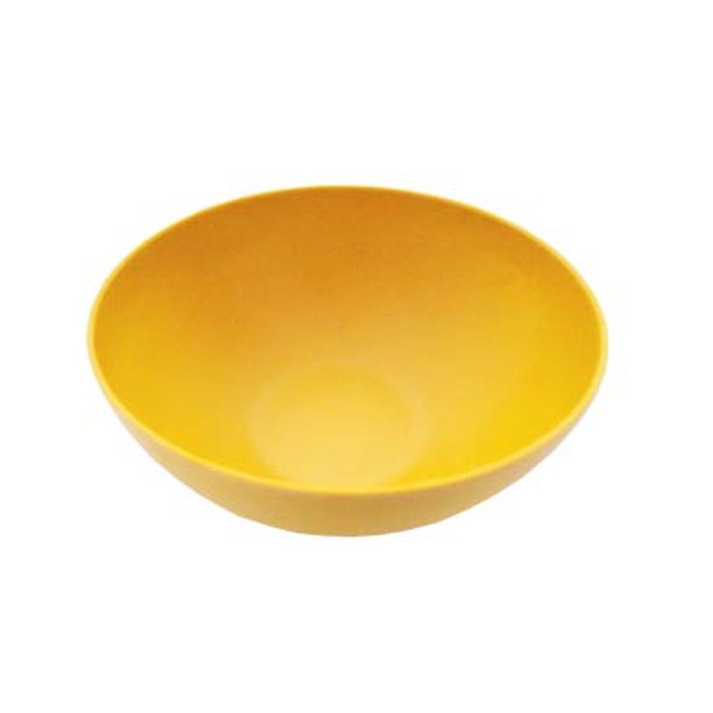СЛАВЯНА Салатник бамбуковое волокно, 20см, желтый, BF20748