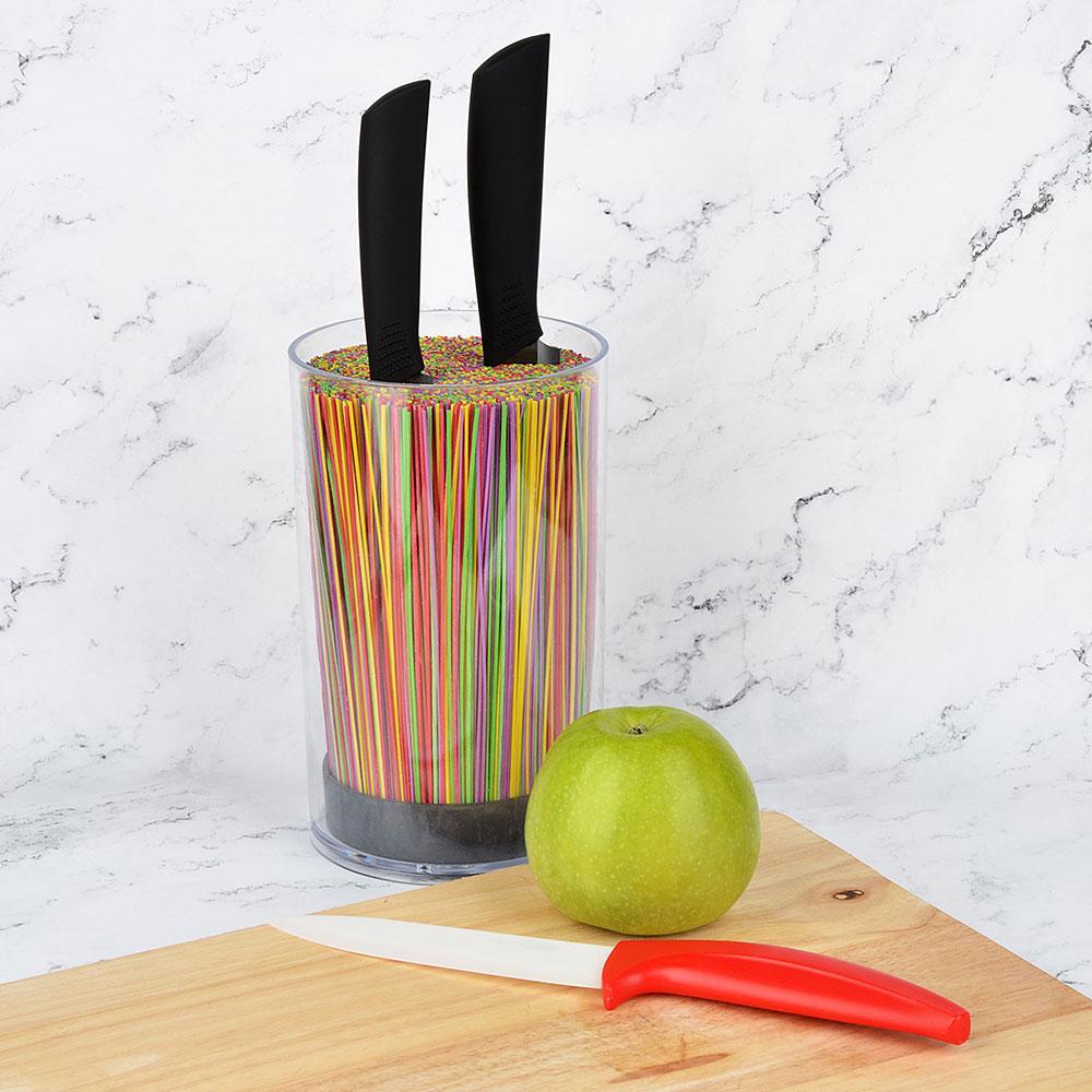 Подставка для ножей круглая SATOSHI, с полипропиленовыми разделителями