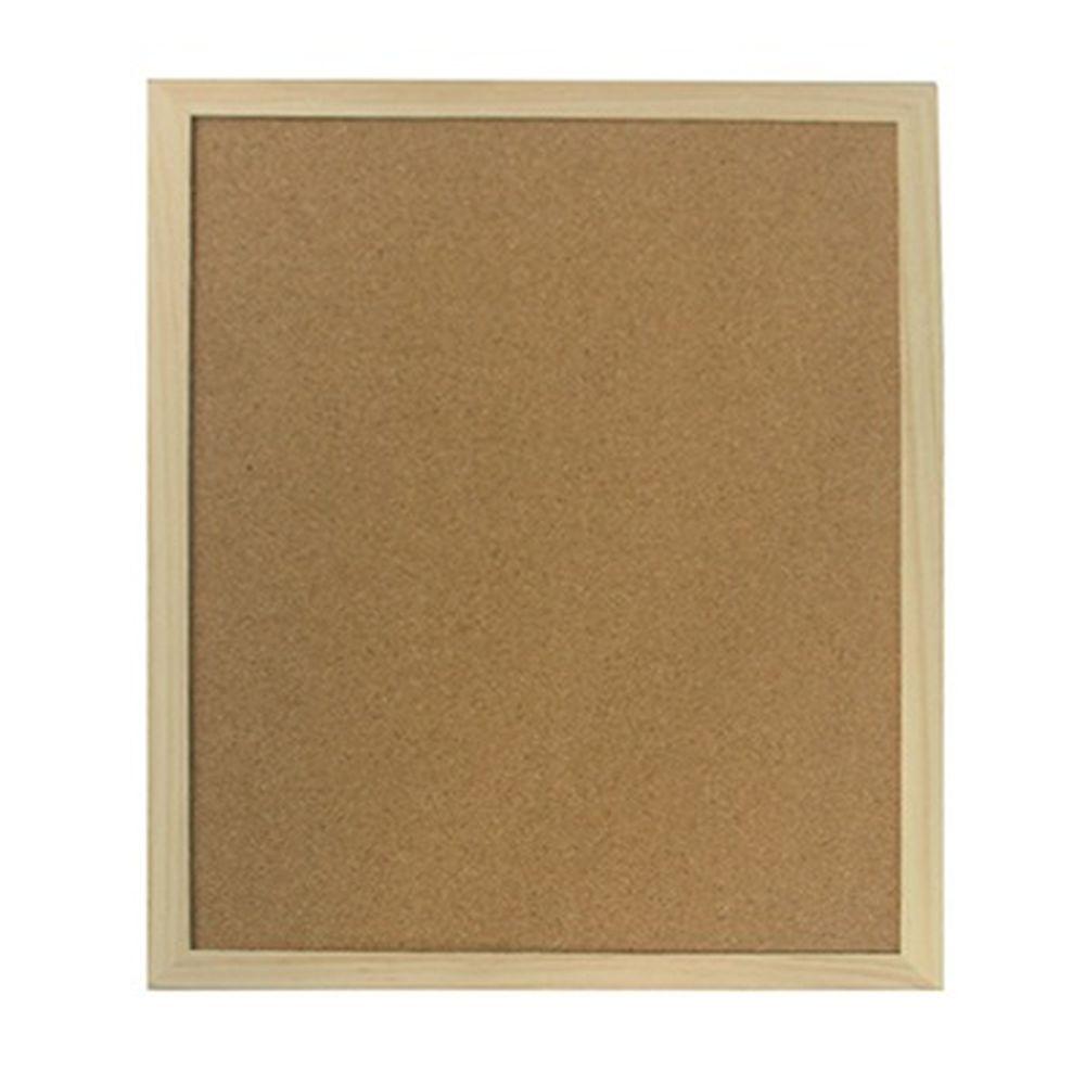Доска пробковая для объявлений 30x40см, деревянная рамка