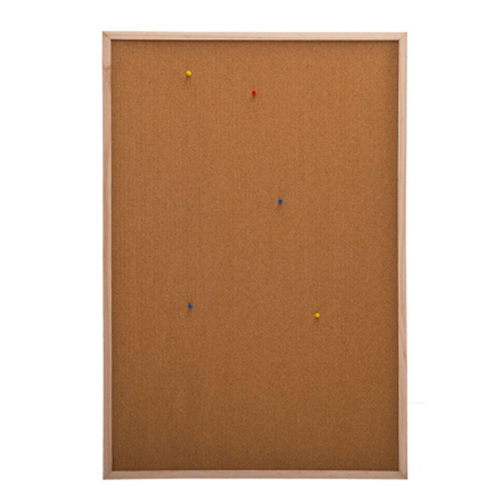 Доска пробковая для объявлений 60x90см, деревянная рамка