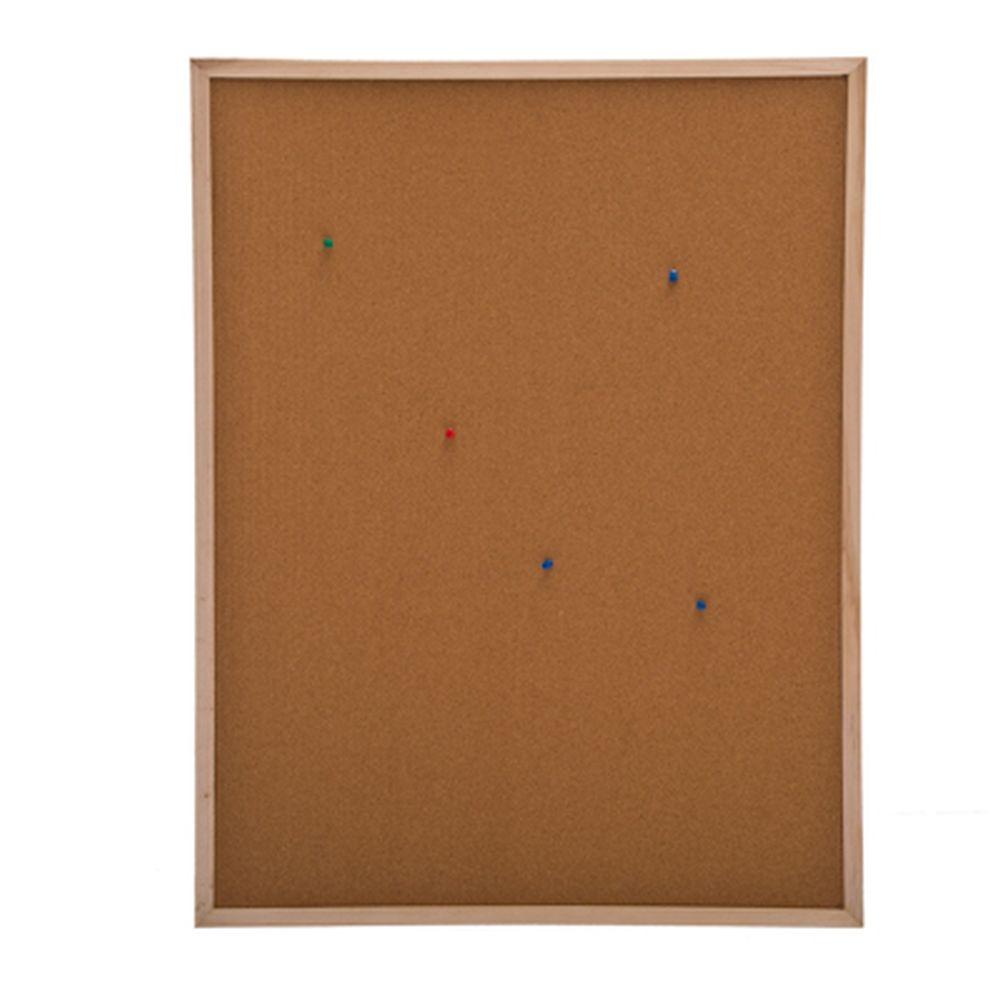 Доска пробковая для объявлений 60x80см, деревянная рамка