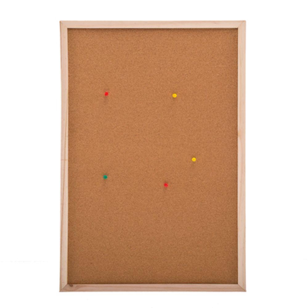 Доска пробковая для объявлений 40x60см, деревянная рамка