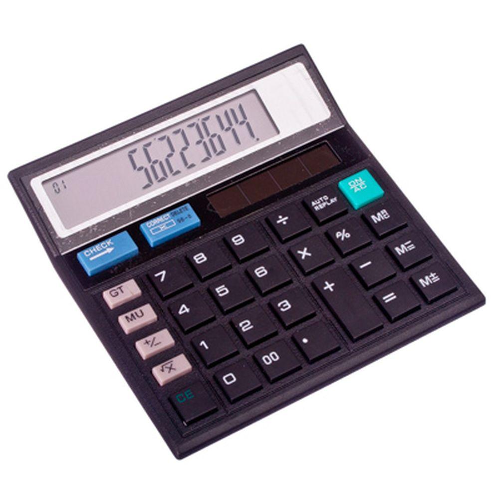 Калькулятор настольный 12 разрядов, питание от солн.батареи или LR44, 12,5х12,5см