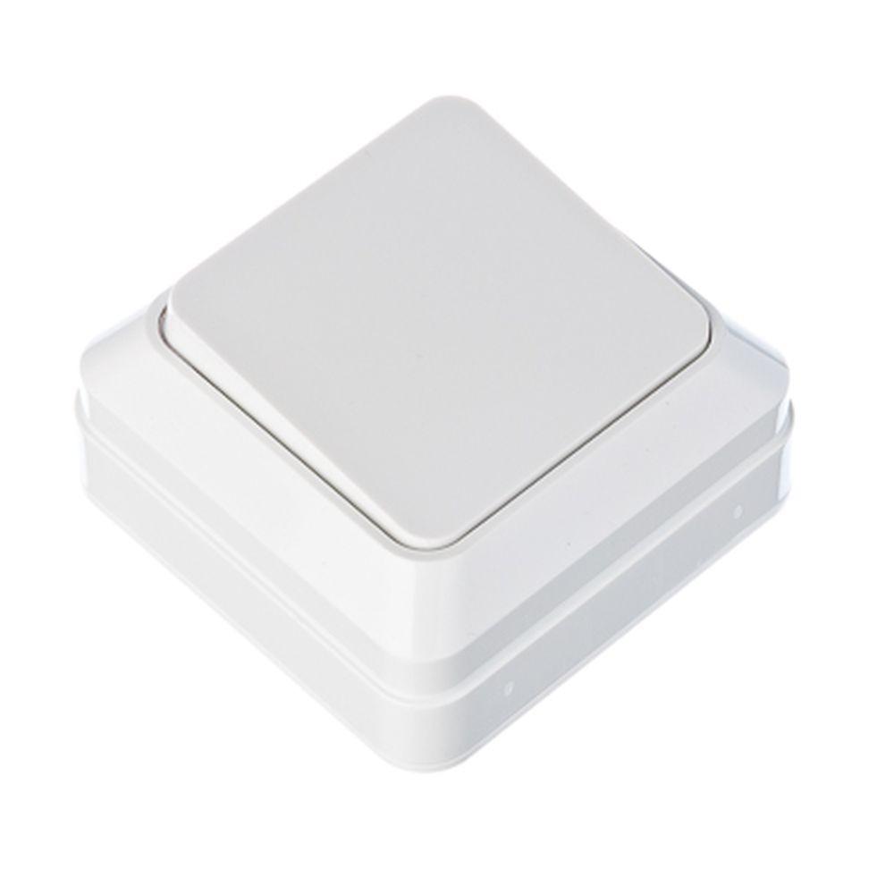 FORZA Simple Выключатель одноклавишный белый, накладной 10А, 250В, пластик ABS