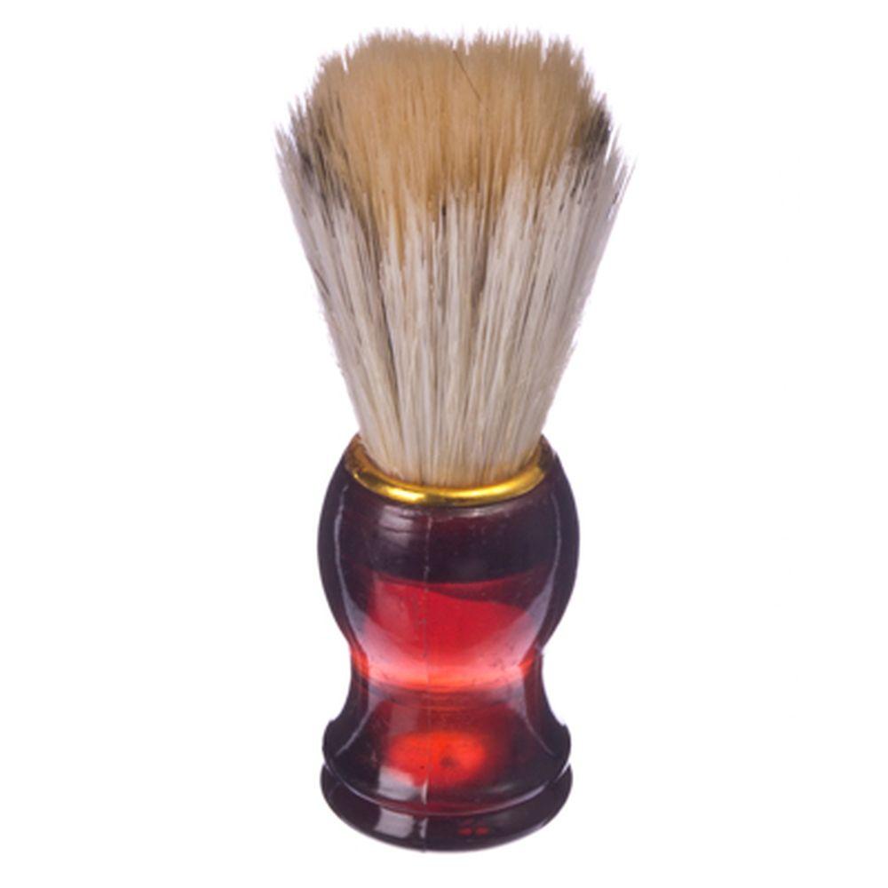 Помазок для бритья, пластиковая основа, золотой ободок, смешанный ворс, 10x3см, 6 цветов