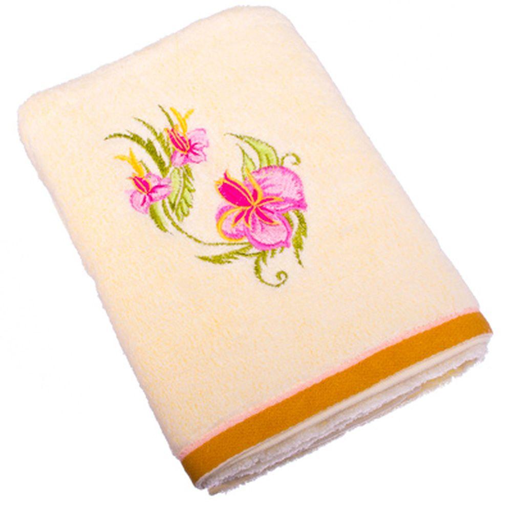 VETTA Полотенце банное, 100% хлопок, 50x90см, Орхидея, белое