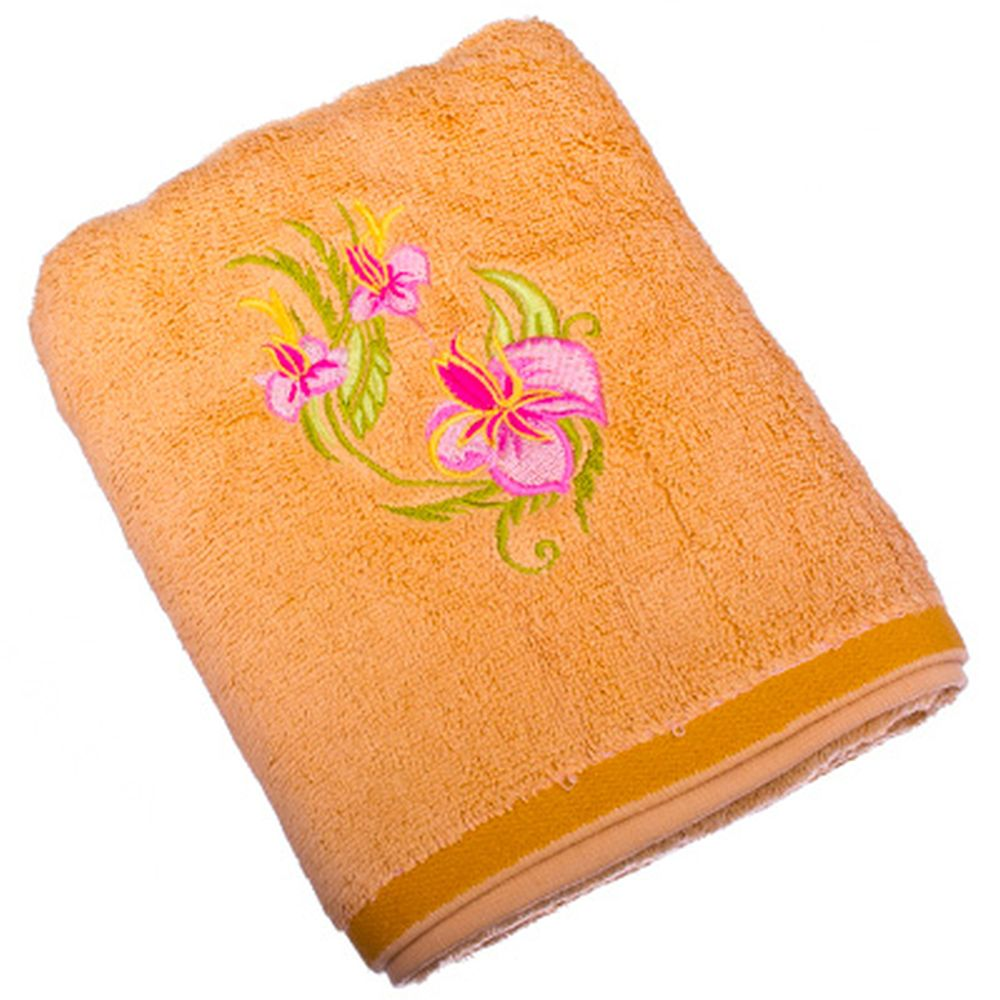 VETTA Полотенце банное, 100% хлопок, 50x90см, Орхидея, бежевое