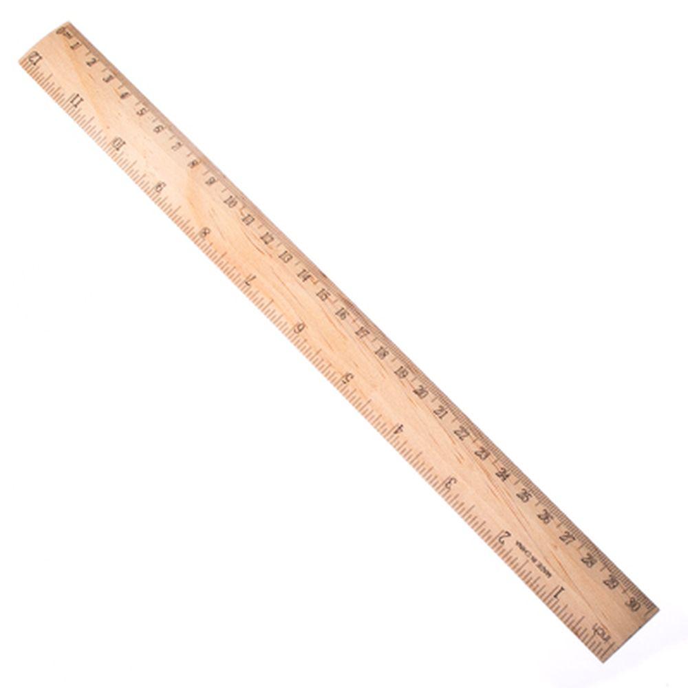 Линейка деревянная, 30см