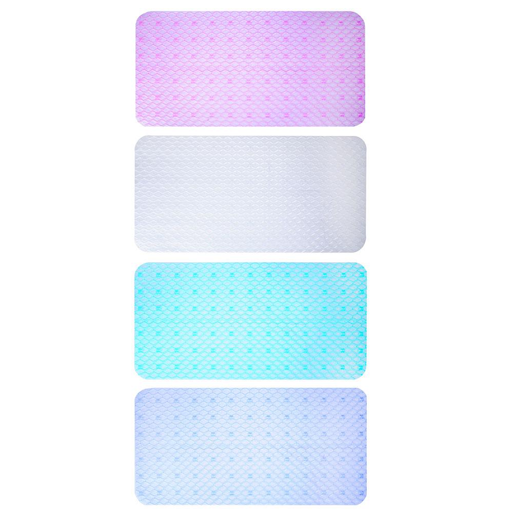 """Коврик для ванны противоскользящий, прозрачный, ПВХ, 68x36см, 4 цвета, VETTA """"Тренд"""""""