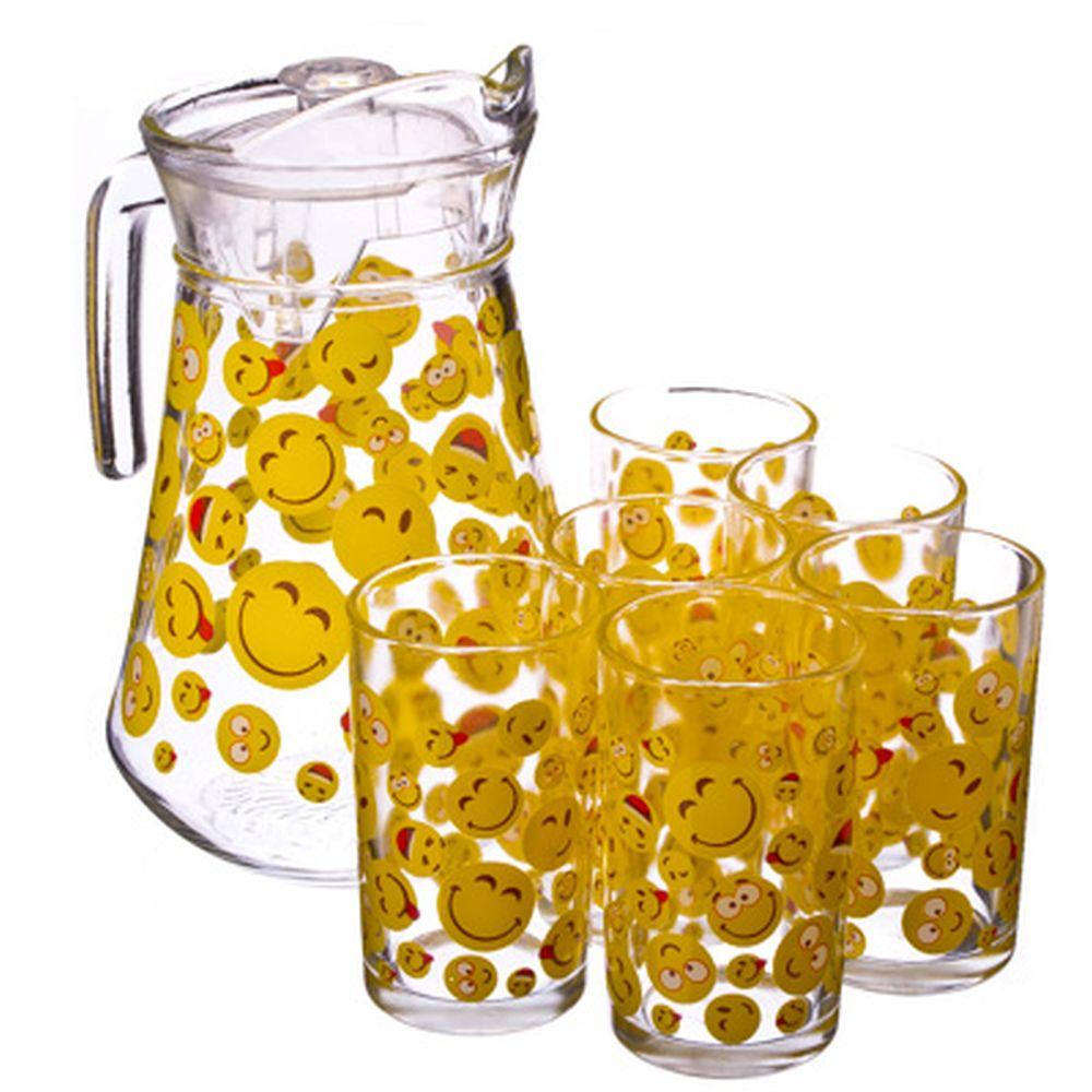 "VETTA Набор 7 пр. (стаканы 6шт 220мл, кувшин 1,5л), стекло ""Смайл"""