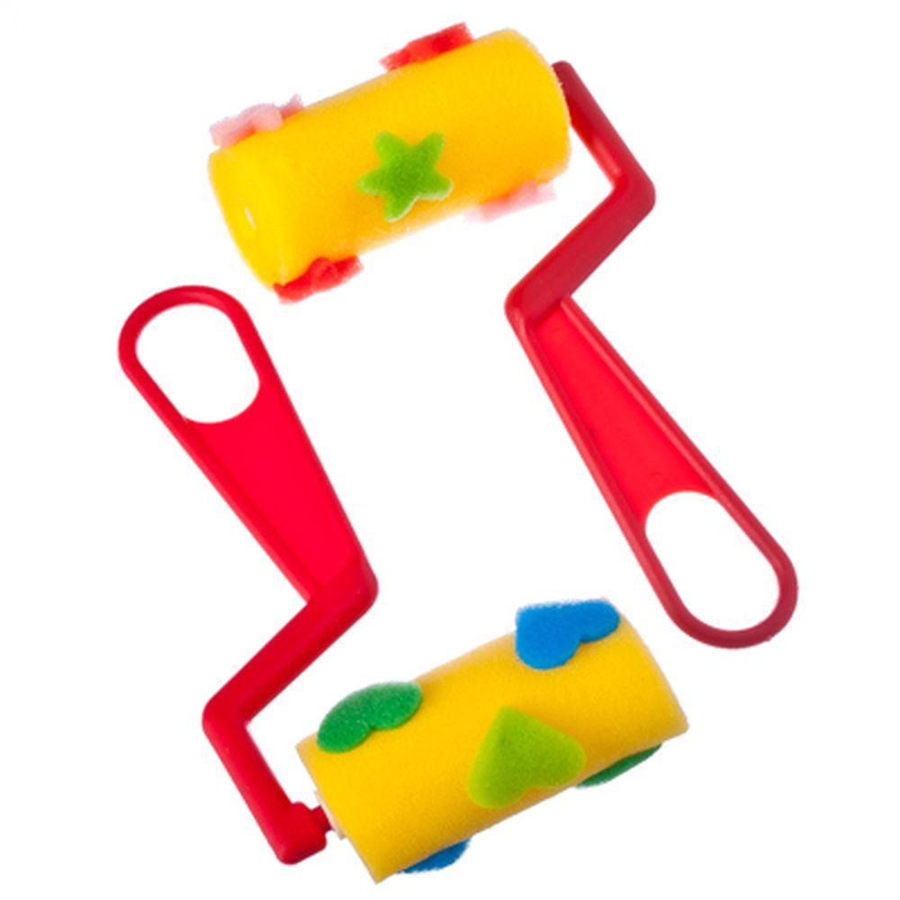 Набор штампов 2шт роликовых для творчества, пластик, поролон, ФС-006