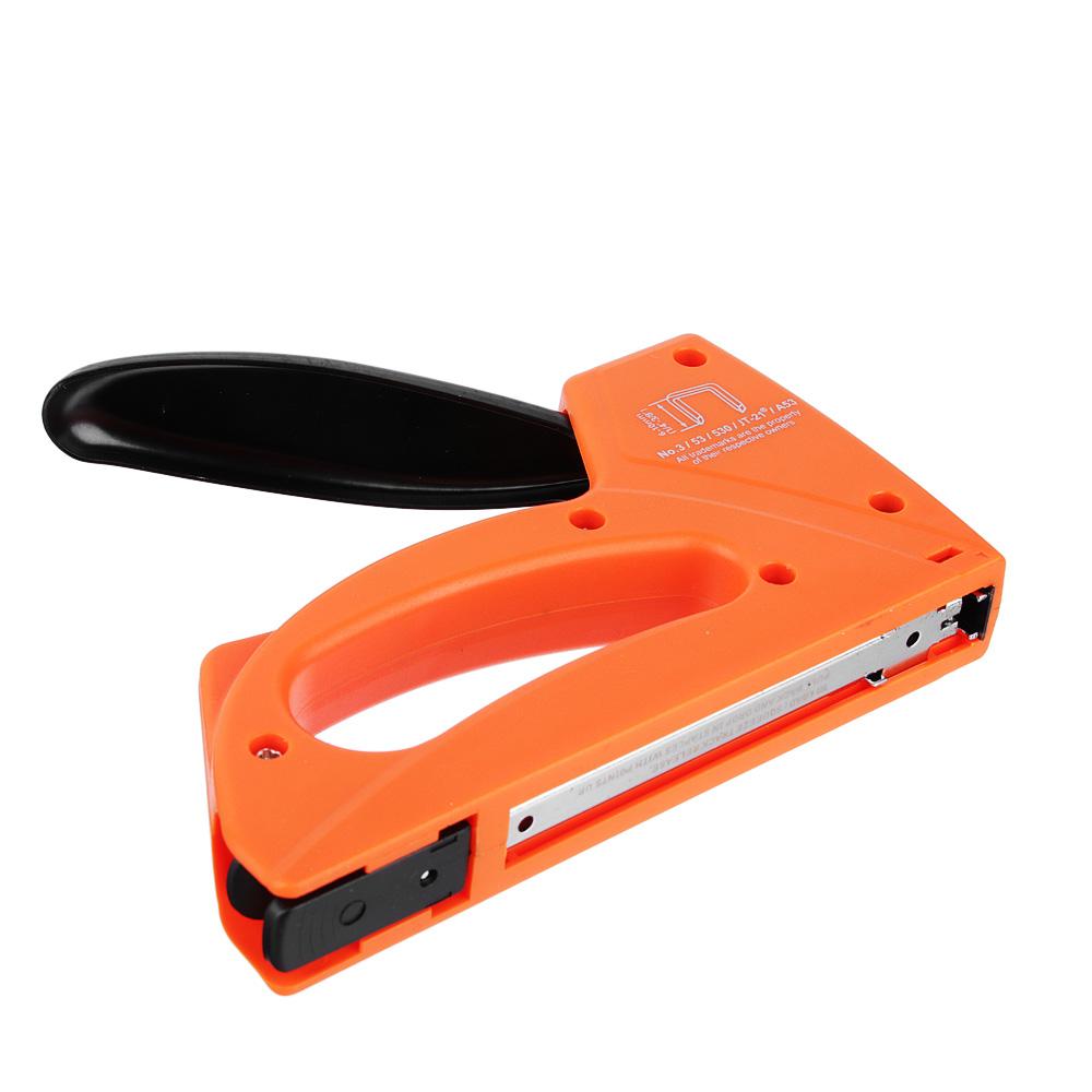 ЕРМАК Степлер мебельный рессорный пластик, тип скобы 53 (6-10мм)х11,3мм