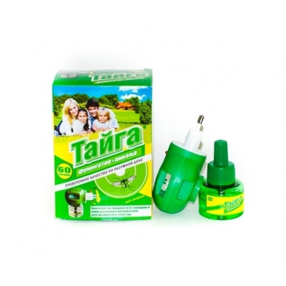 ТАЙГА Комплект электрофумигатор + дополнительный флакон жидкости от комаров 30мл, 60 ночей