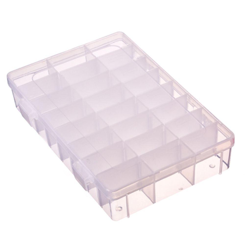 Контейнер для мелочей 24 отделения, пластик, 19х13х4 см, прозрачный