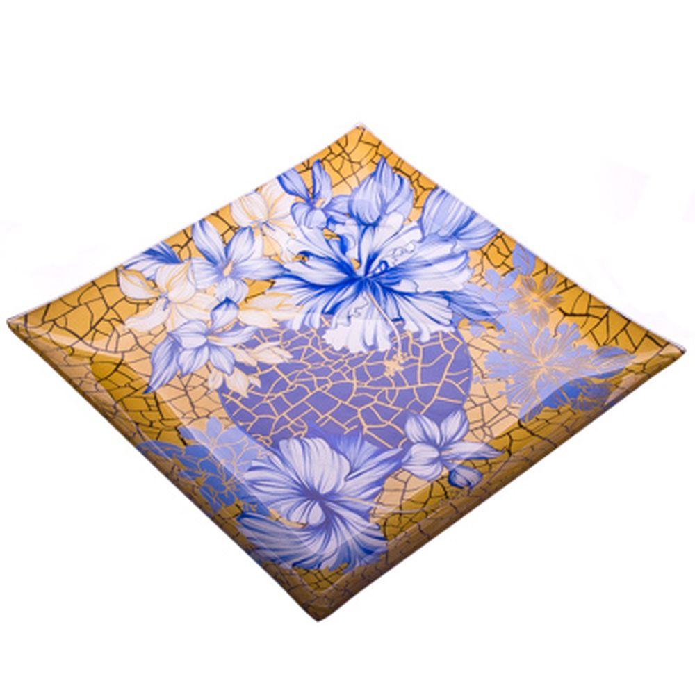 VETTA Наоми Блюдо квадратное стекло, 25,4см, S3110