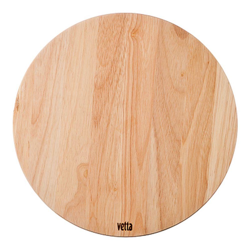 Доска разделочная круглая, гевея, d30x1,5см, VETTA