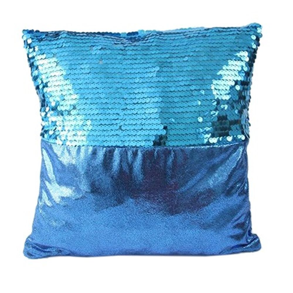 "Наволочка на подушку, текстиль, пайетки, 43х43см, 4 цвета, ""Венесуэла"""