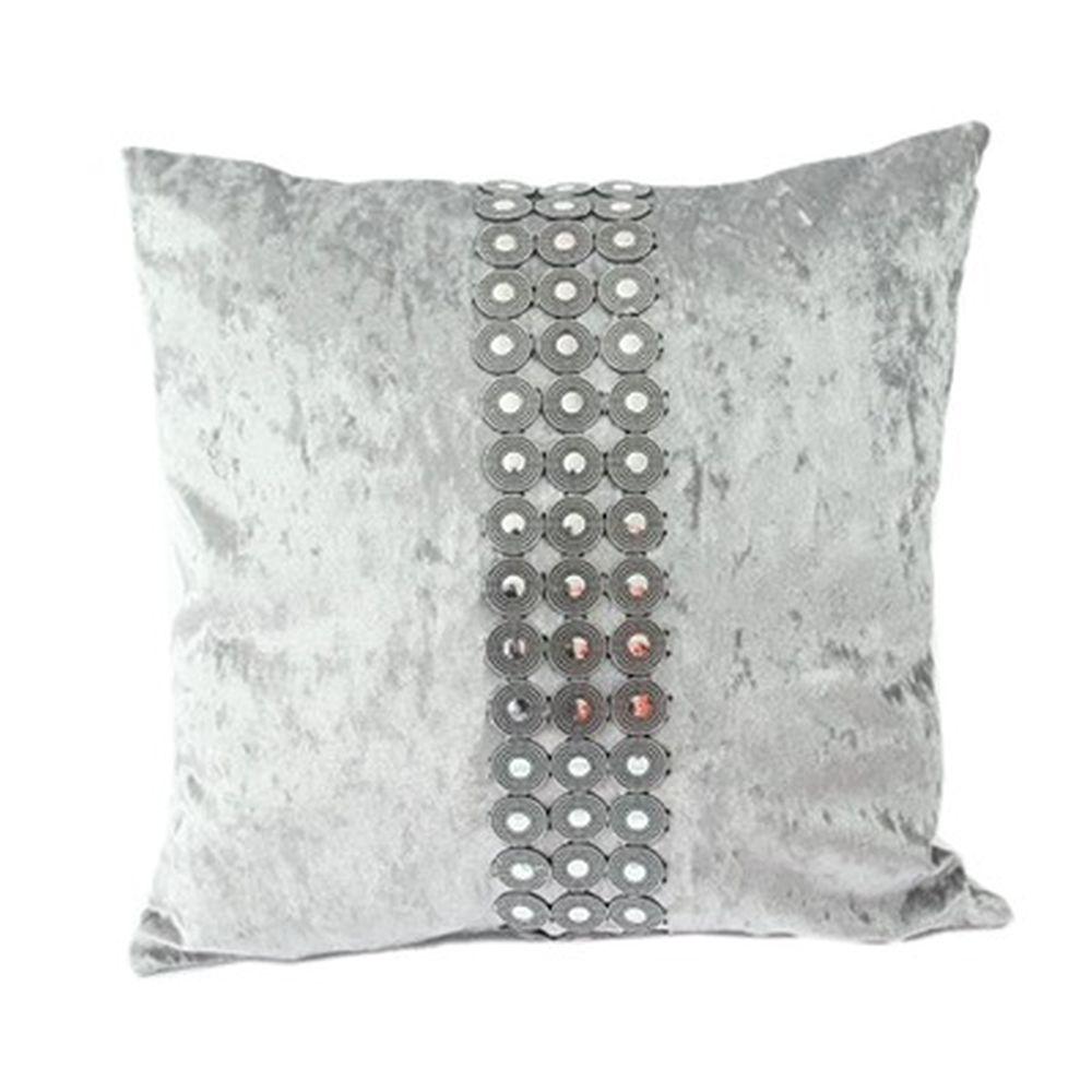 "Наволочка на подушку, бархат, пластик, 43х43см, 4 цвета, ""Афины"""