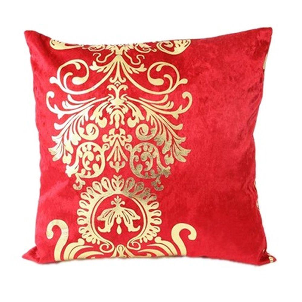 "Наволочка на подушку, бархат, 43х43см, 4 цвета, ""Дамаск"""