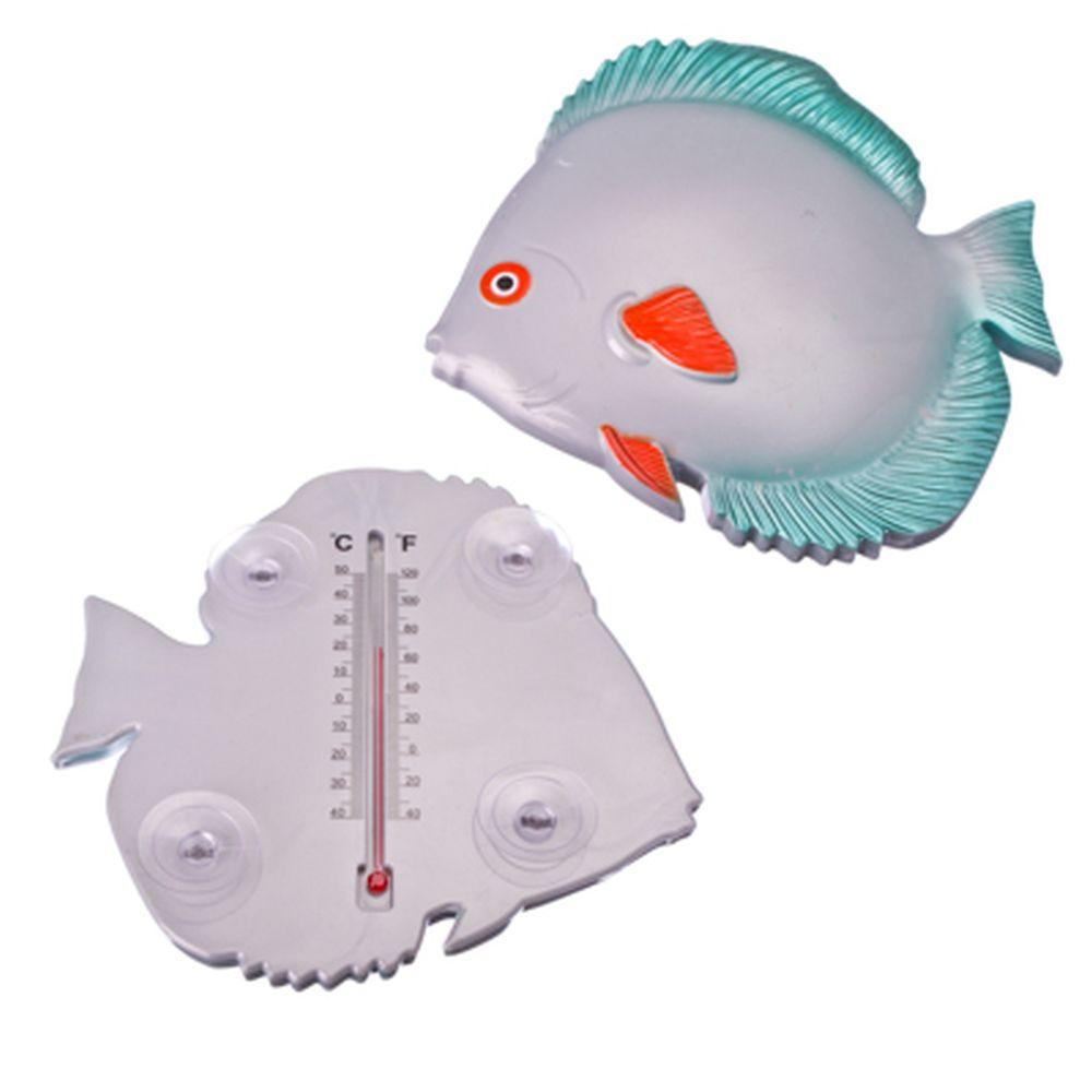 """INBLOOM Термометр оконный """"Рыбка"""" 19,8x18,2x3,5см, для крепления на стекло"""