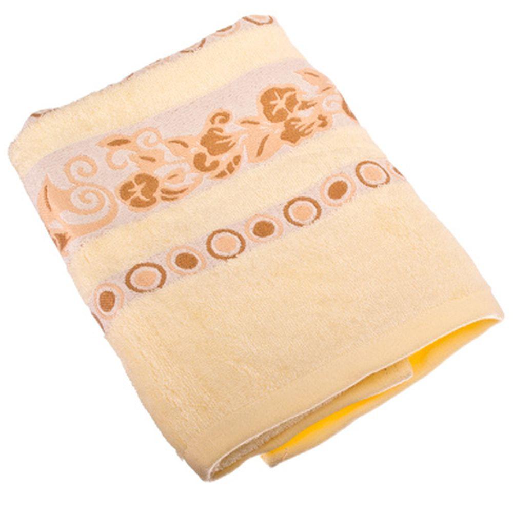 VETTA Полотенце банное, бамбук, 50x90см, Глория, жёлтое