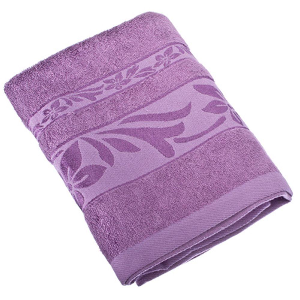 VETTA Полотенце банное, 100% хлопок, 50x90см, Фейерверк, лиловое