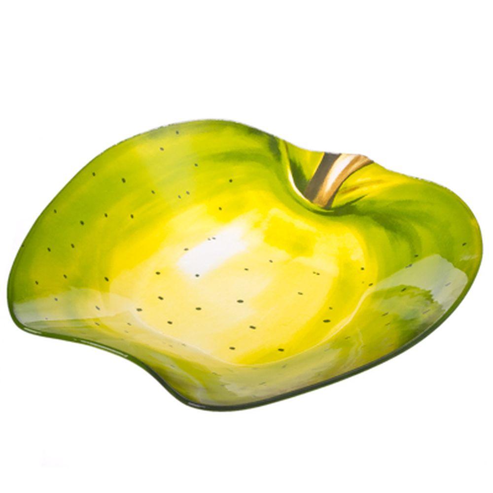 """VETTA Салатник стекло, 25,4см, """"Зеленое яблоко"""", H165"""