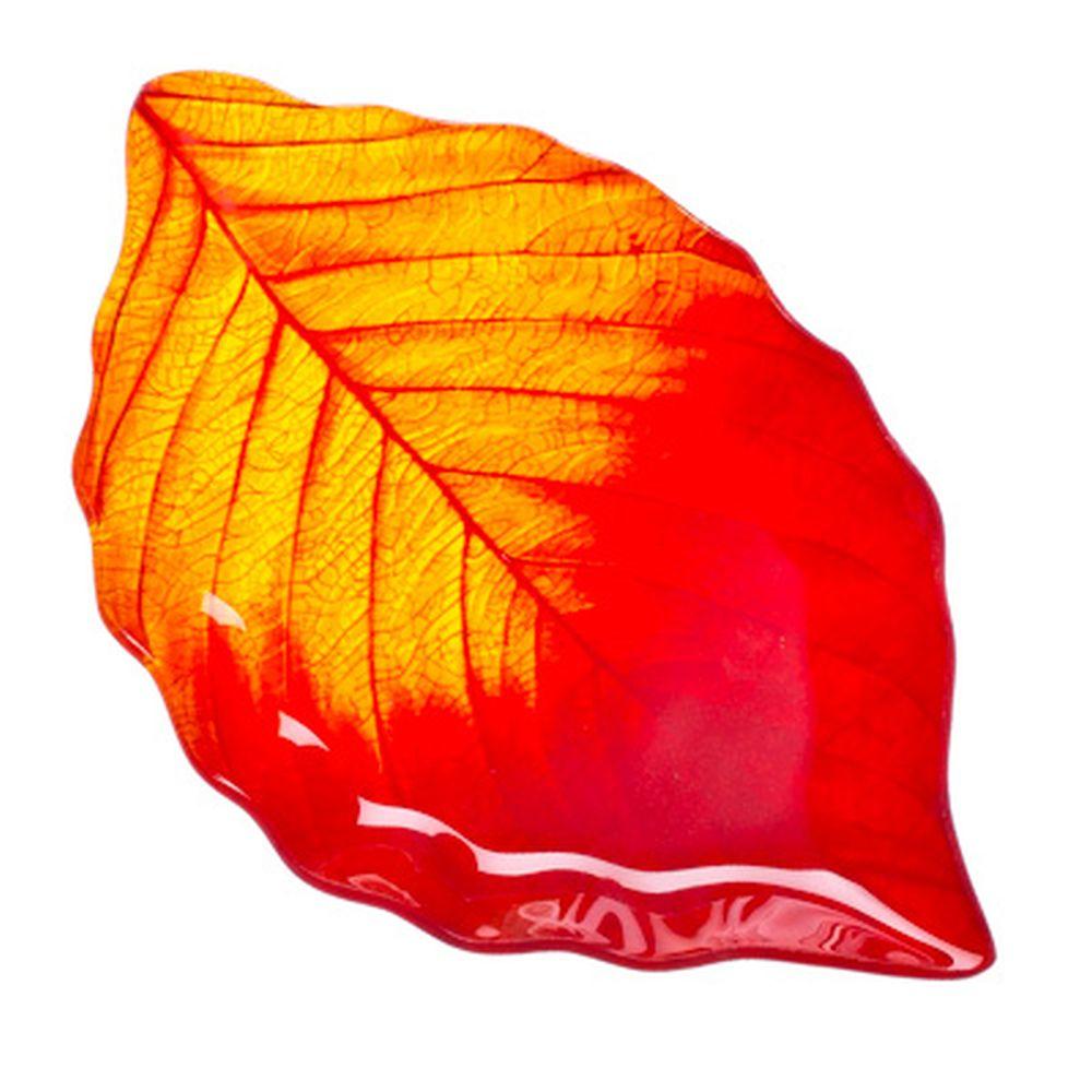 """VETTA Блюдо стекло, 25,4см, """"Осенний лист"""", L210"""