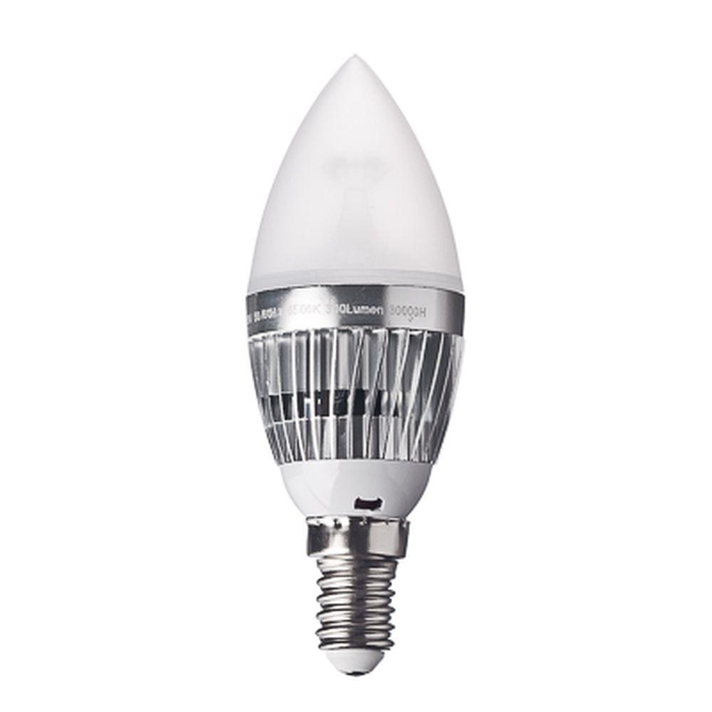 FORZA Лампа светодиодная цоколь E14 LED, 4W, эквив. 40Ватт, 220V, 6500к, 30000h, d4см