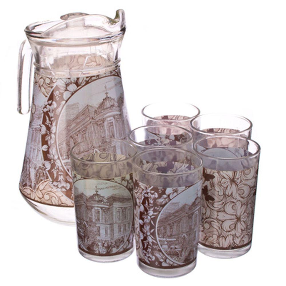 "VETTA Набор 7 пр. (стаканы 6шт 220мл, кувшин 1,5л), стекло, ""Старый город"""