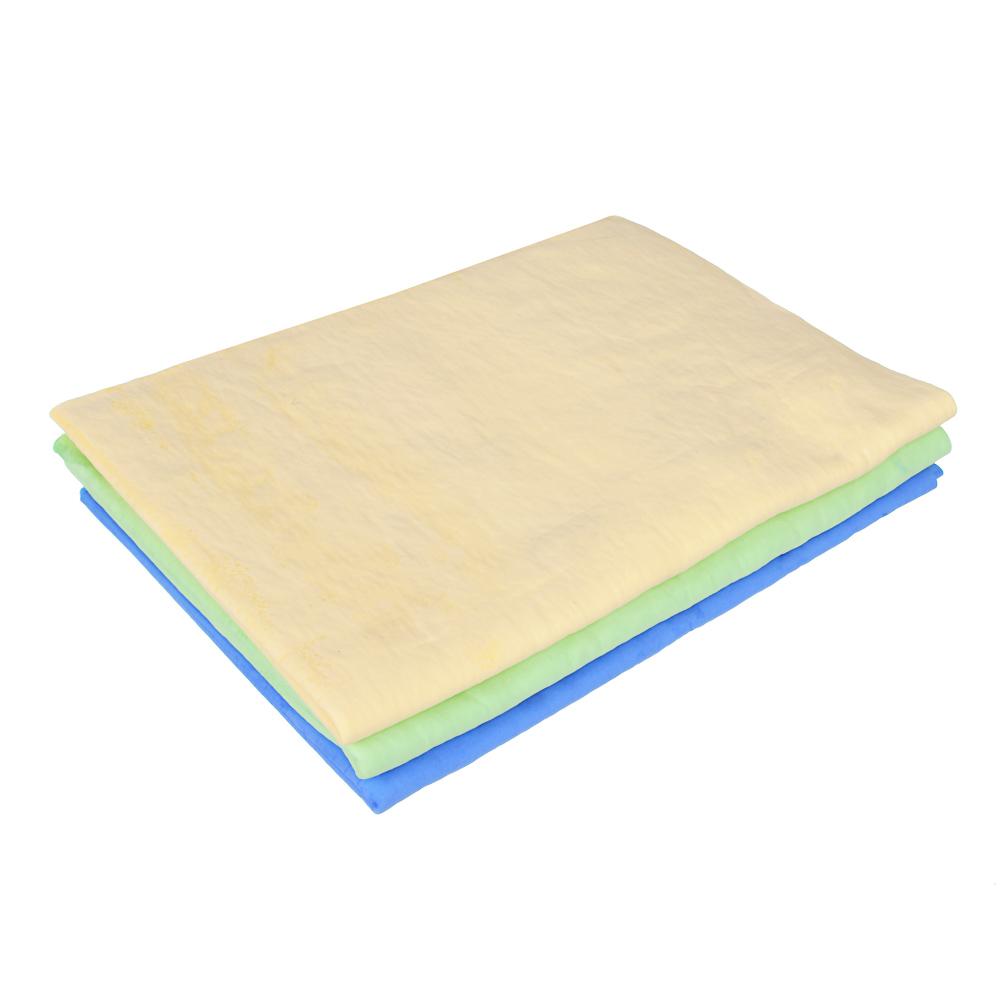 Салфетка супервпитывающая в тубе, синтетическая замша, 43x32 см, 3 цвета, VETTA