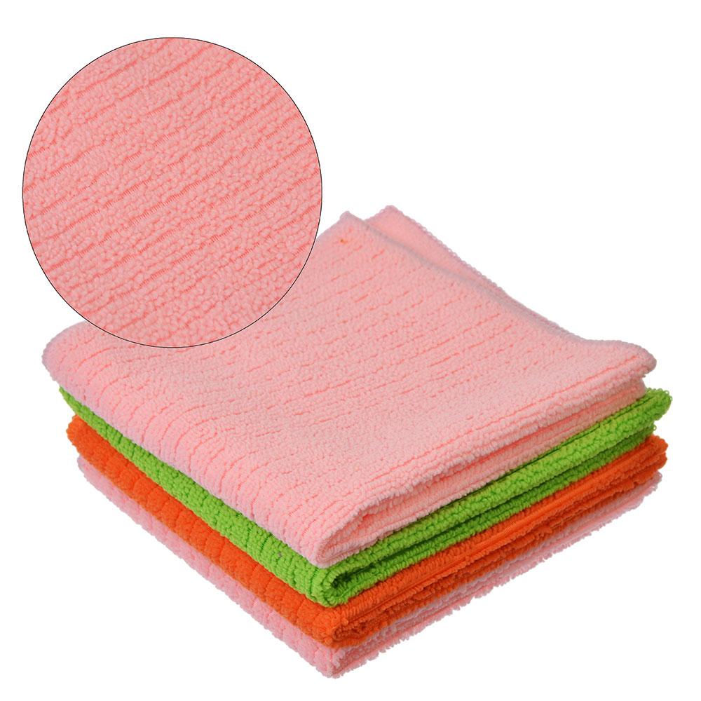 """Набор салфеток универсальных из микрофибры 2 шт, 30x30 см, 230 гр./кв.м.,  2 цвета, VETTA """"Полоски"""""""