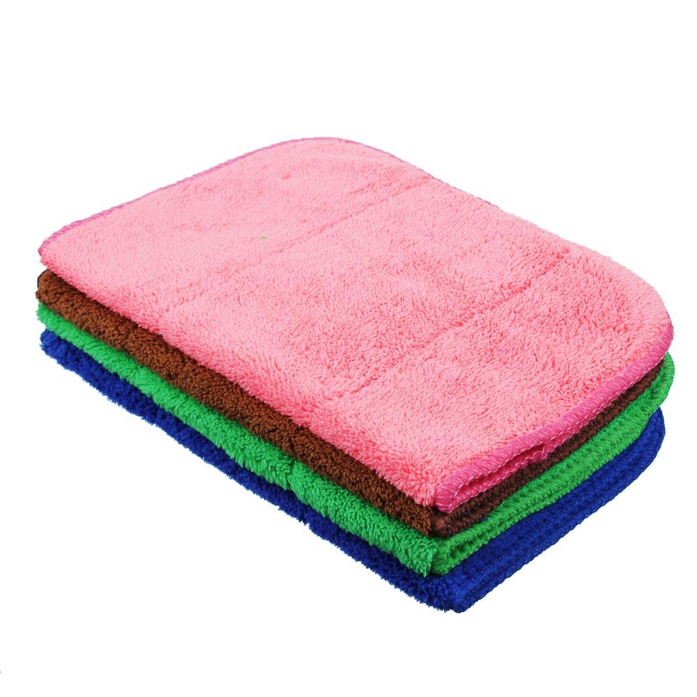 Салфетка для сухой уборки из микрофибры, 25х35 см, 250 гр./кв.м., 4 цвета, VETTA