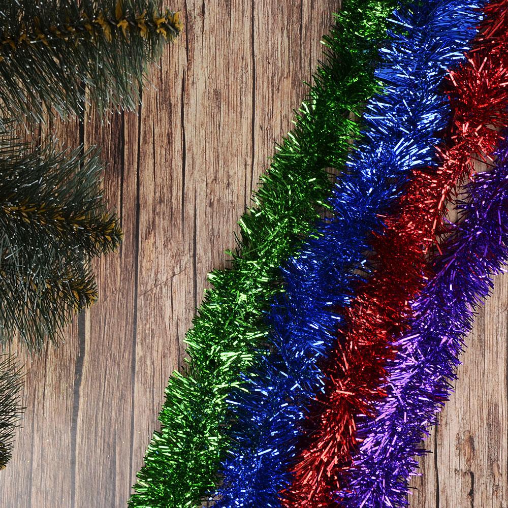 СНОУ БУМ Мишура из фольги, 200x6см, 4 цвета: красный, зеленый, фуксия, синий, SYCOT-053