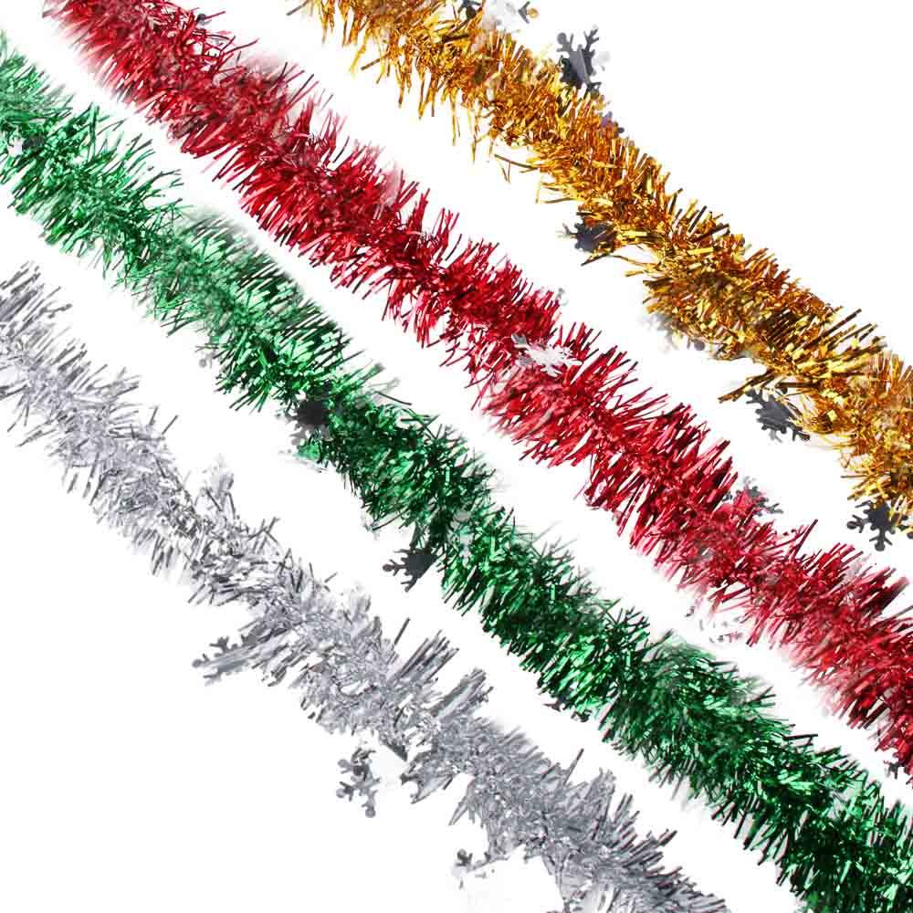 Мишура СНОУ БУМ из фольги, 200x11см, со снежинками, 4 цвета, SYCTG-017