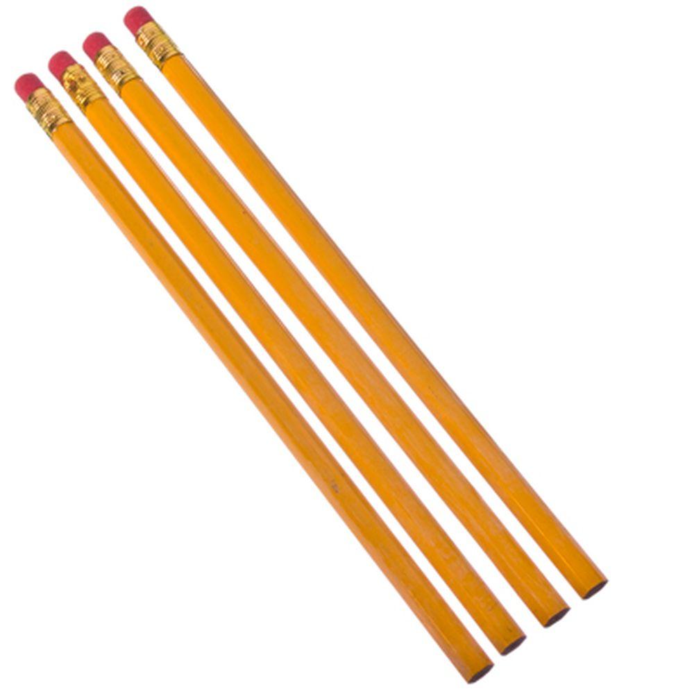 Набор карандашей 4шт, НВ со стирательной резинкой