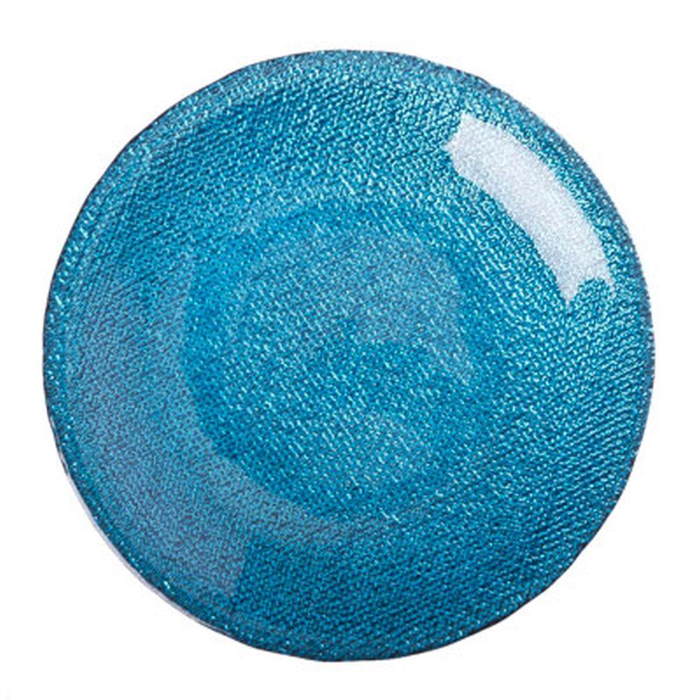ARDA Cotton Тарелка десертная синяя стекло 165мм