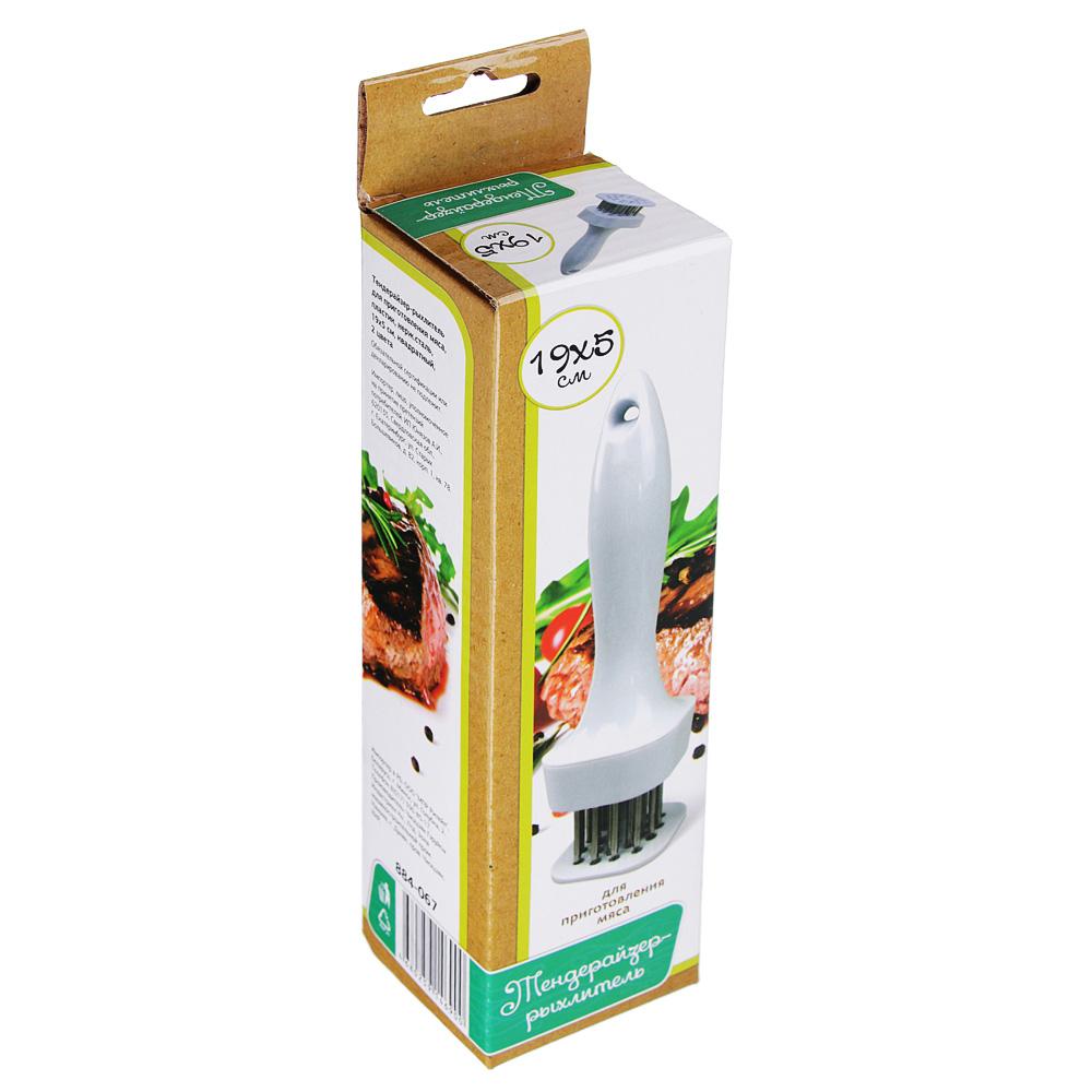 Тендерайзер-рыхлитель для приготовления мяса, пластик/нержавеющая сталь, 2 цвета