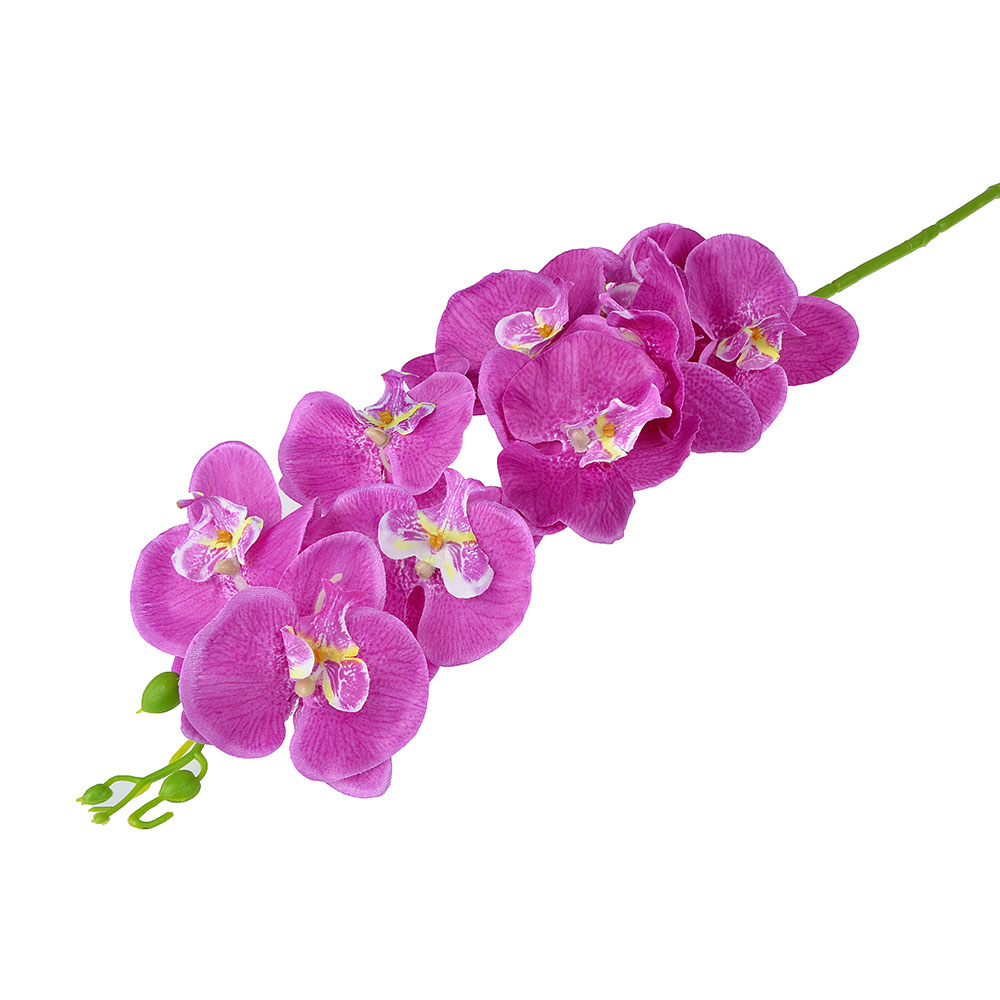 """Цветок искусственный """"В виде Орхидеи"""" 90-100см, пластик, полиэстер, 3 цвета"""
