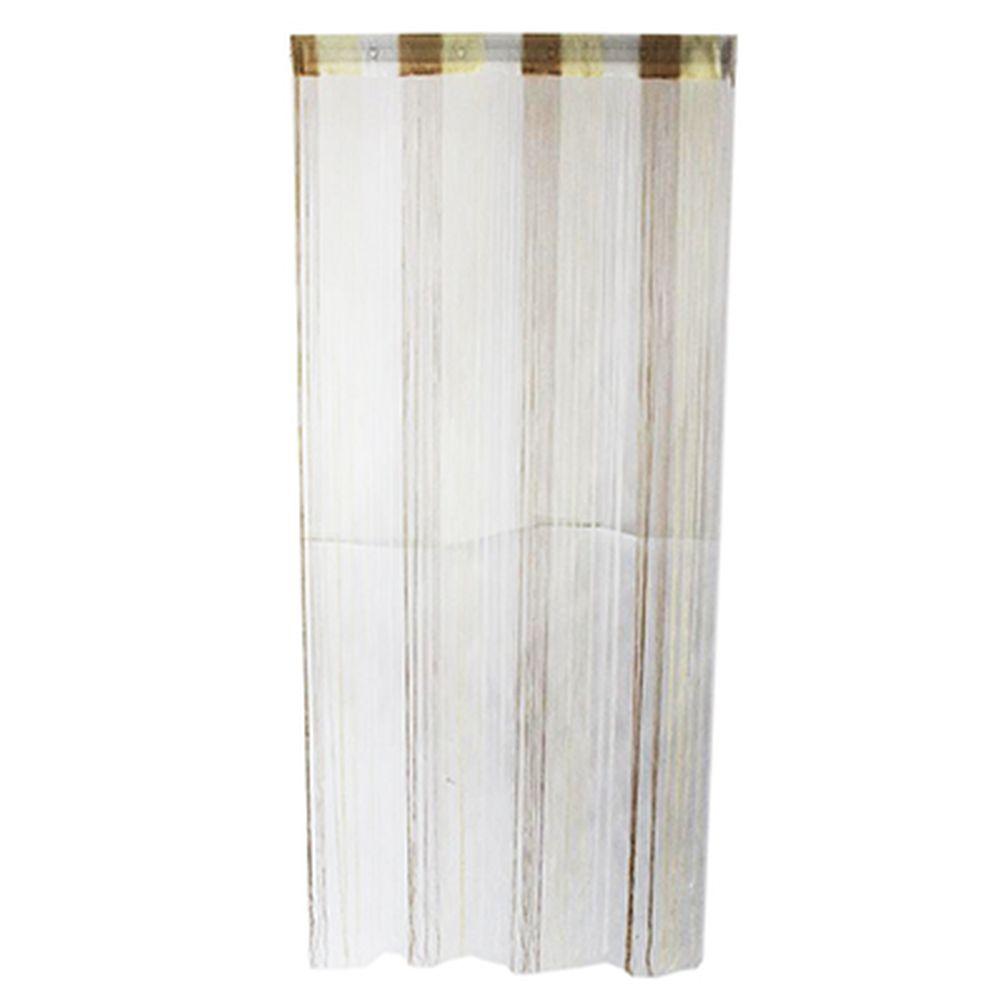 Занавеска нитяная, полиэстер, 1x2м, 3-х цвет., кремов, кофейный, белый, арт.119