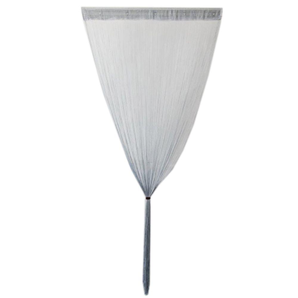 Занавеска нитяная, полиэстер, 1x2м, светло-серый, арт.002