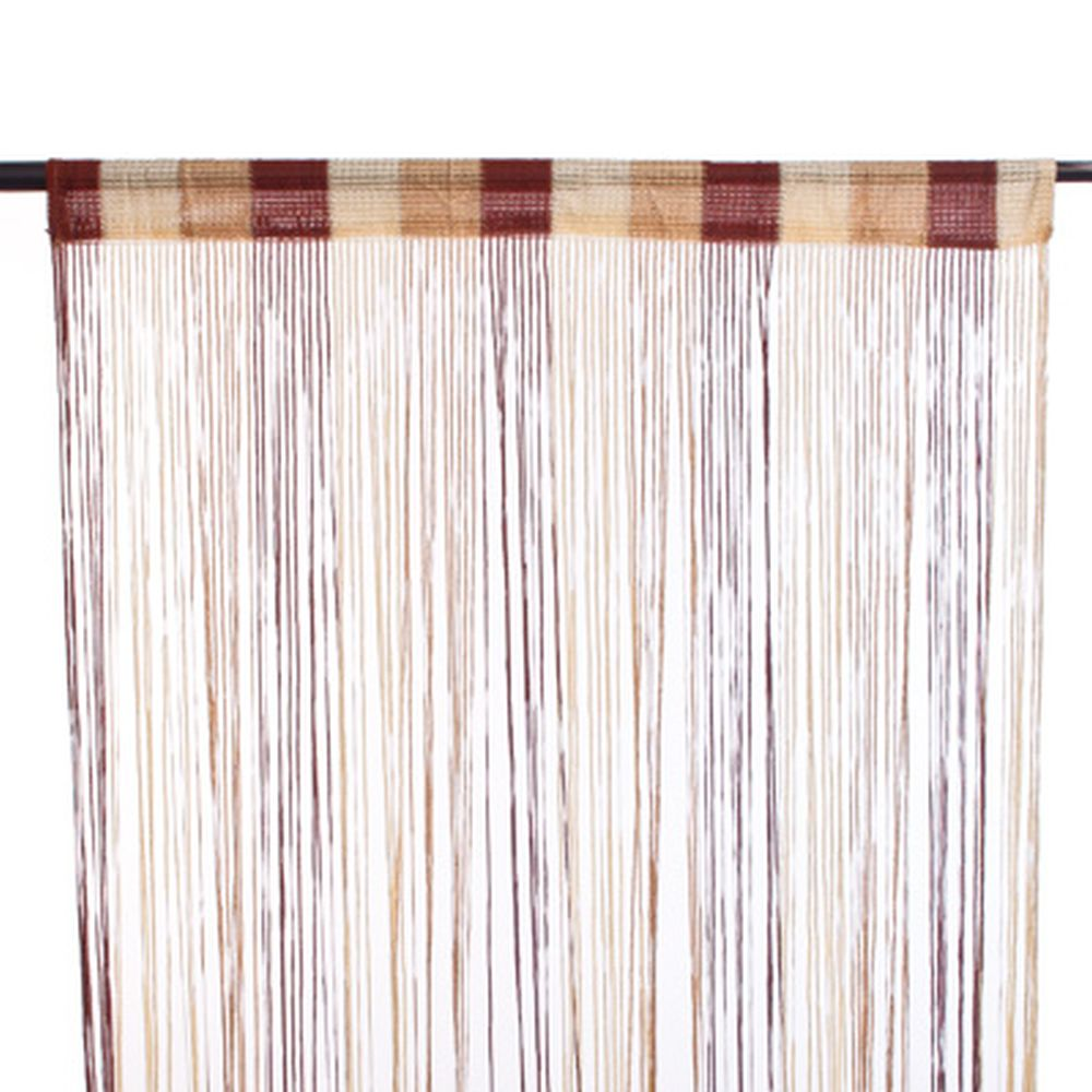Занавеска нитяная, полиэстер, 1x2м, широкая, 3-х цвет., золотой, кофейный, кремовый