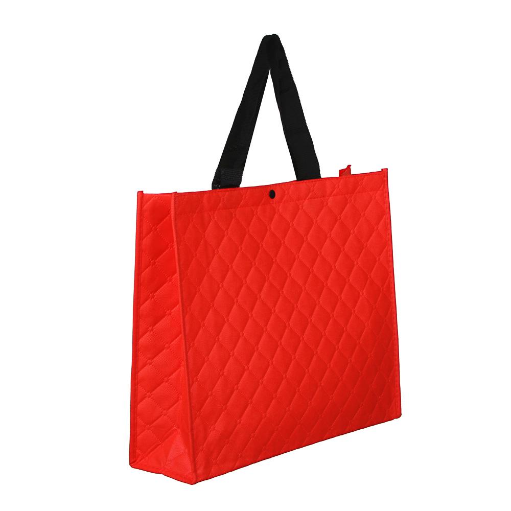 Сумка хозяйственная трехслойная, полиэстер, 34х40х12,5см, красная