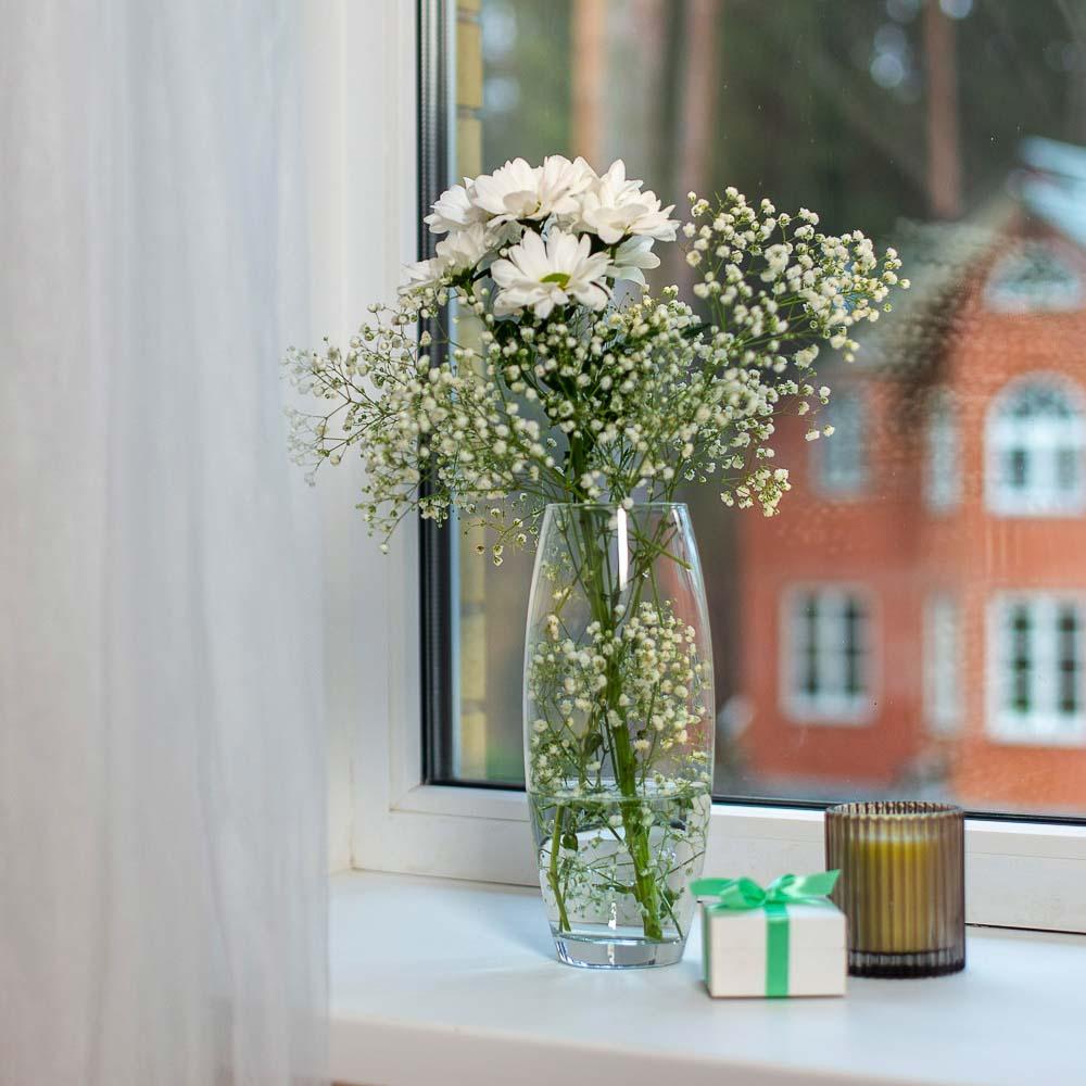 """Pasabahce ваза для цветов стеклянная h-26 см, """"flora"""""""