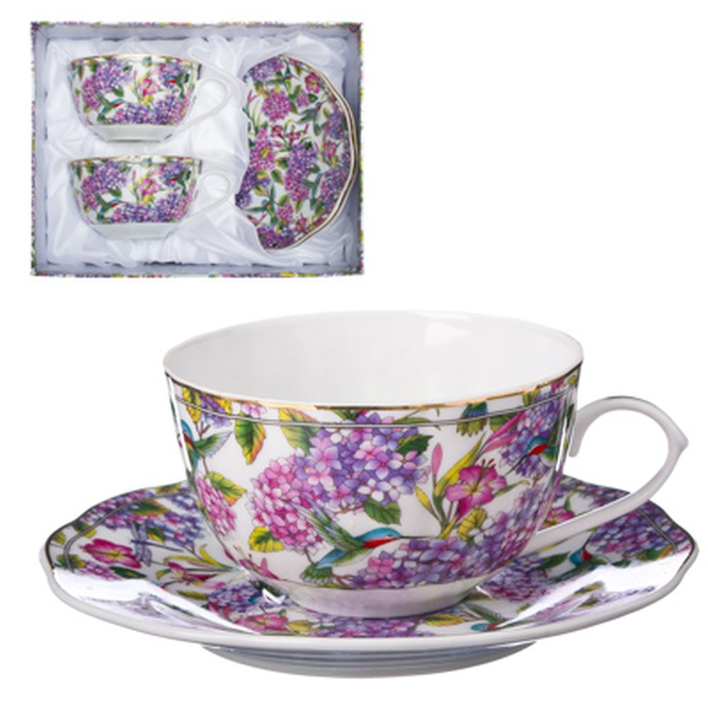 Цветущая сирень Набор чайный 4 пр., 270мл, тнк. фрф, подар.уп, AY-1105