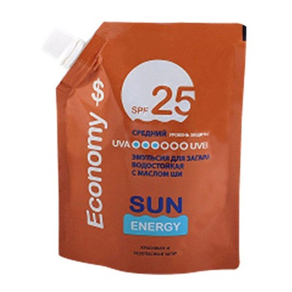 Sun Energy Economy Эмульсия для загара SPF 25, дой-пак 200мл, Эльфа 2541