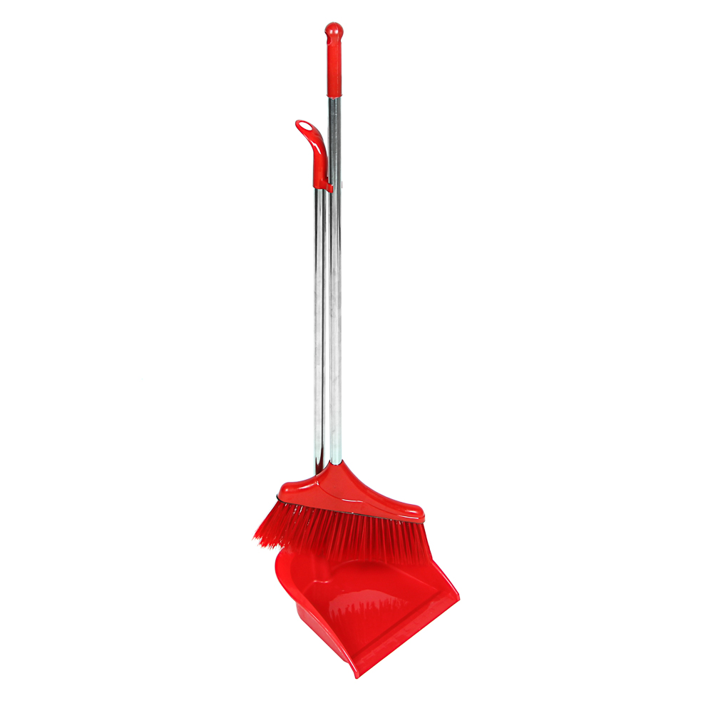 """Набор для уборки: щетка, совок, пластик, металл, 2 ручки, 78 см, VETTA """"Ленивка"""""""